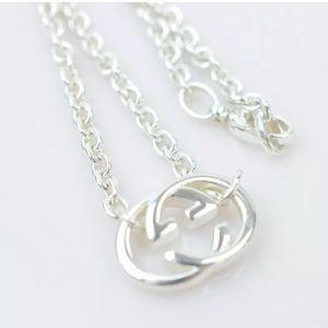 Gucci Pendant Necklace Interlocking G  Silver 925